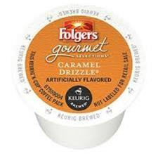 FOLGERS CARAMEL DRIZZLE KCUP
