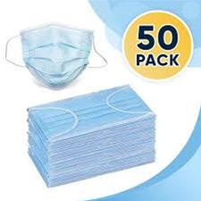 3-Ply Face Mask 50 ct 2/25 pac