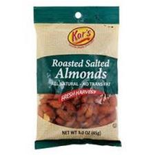 KAR NUT SALTED ALMONDS 100CT
