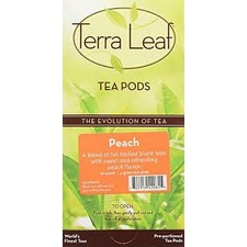 TERRA LEAF PEACH TEA PODS/75